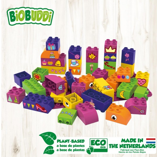 Basic Set 40 mit Basic Platte - Mädchen / Educational blocks with baseplate - Girls