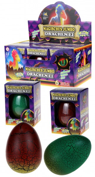 Magisches Jumbo Drachen Ei / Magic Growing Egg Jumbo Dragon