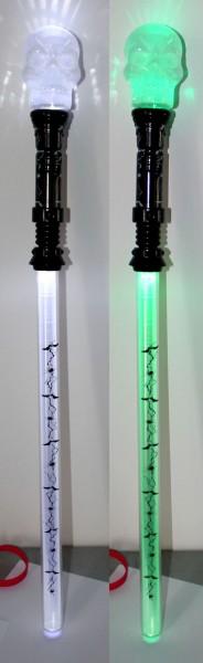 Licht Schwert mit Totenkopf