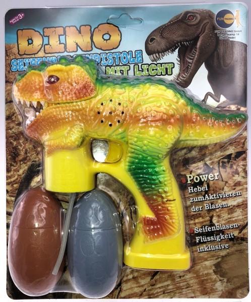Seifenblasenpistole Dino mit Licht und Sound