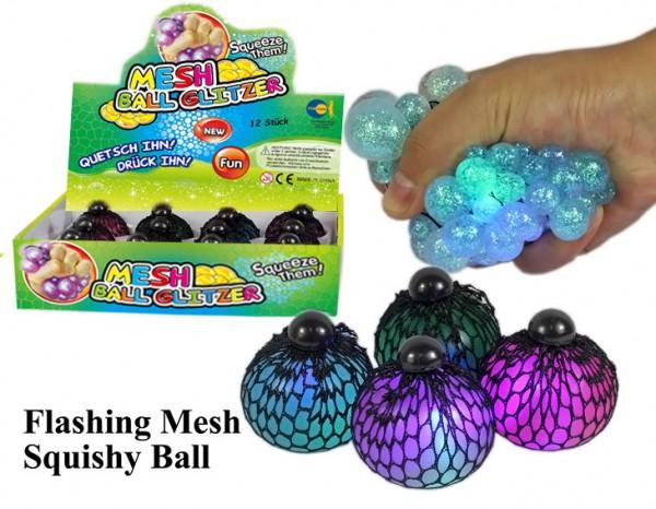 Mesh Ball Glitzer mit Licht