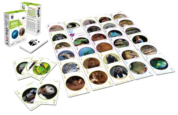 WWF Spielkarten gefährdete Tiere