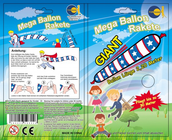 Mega Ballon Rakete
