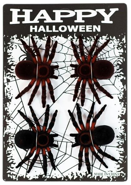 Spinnen neon und schwarz