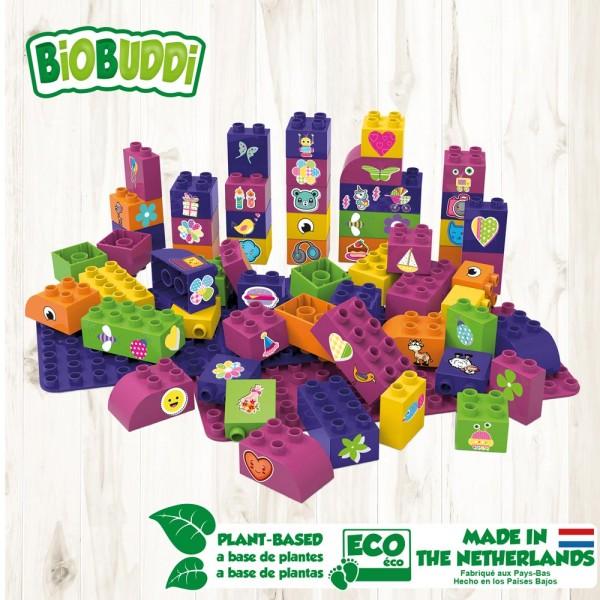 Basic Set 60 mit Basic Platten - Mädchen / Educational blocks with baseplates - Girls