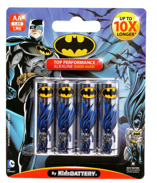 AA Batterien mit Batman Lizenz