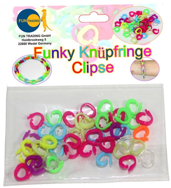 Funky Knüpf Ringe Clipse