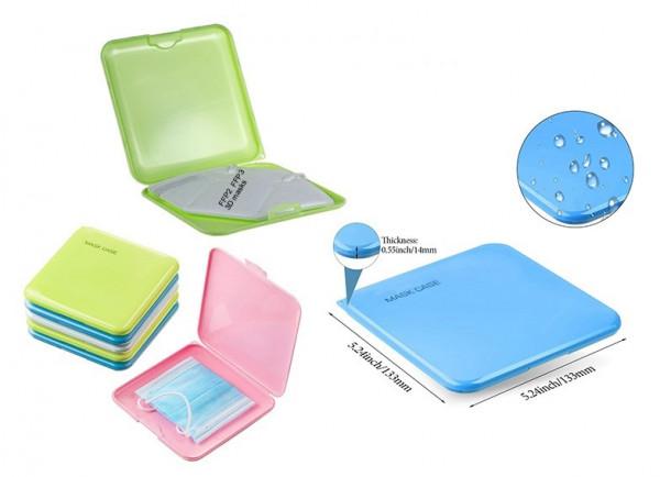 Masken Box - Mask Case - Aufbewahrung für Masken - blau