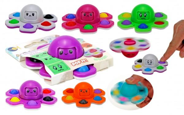 OctoSpin - Pop Fidget - Octopus Spinner - Mood Change Faces