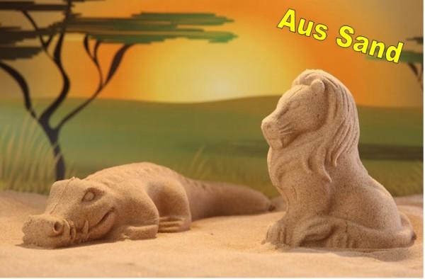 3D Sandformen 2er Set Löwe-Krokodil