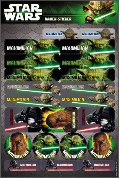 Star Wars Namensticker