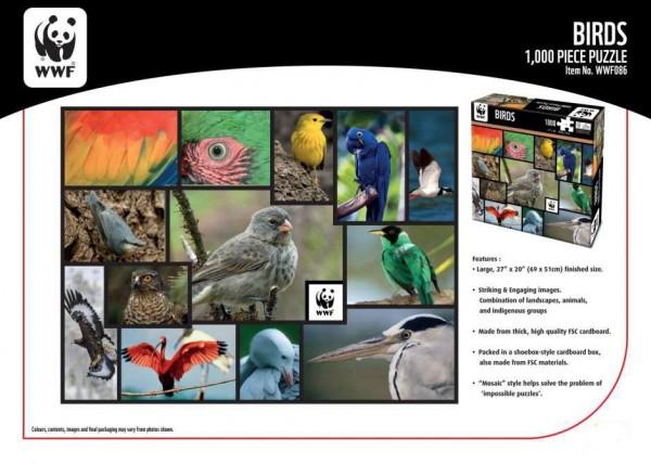 WWF 1000 Puzzle Vögel