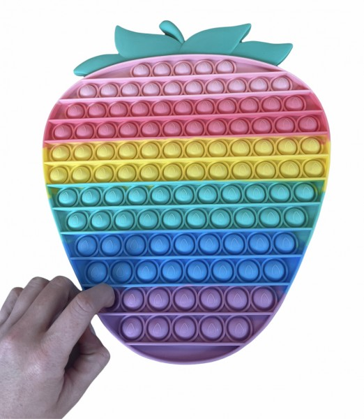 Pop Fidget Erdbeere - Rainbow - 30cm