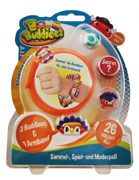 BBuddieez Blister - 3 BBuddieez und 1 Armband