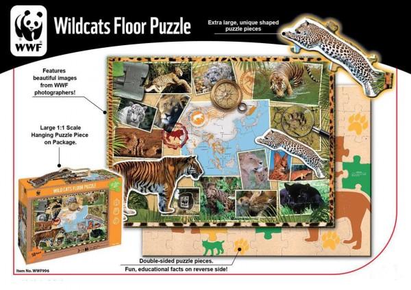 WWF Bodenpuzzle Wildkatzen