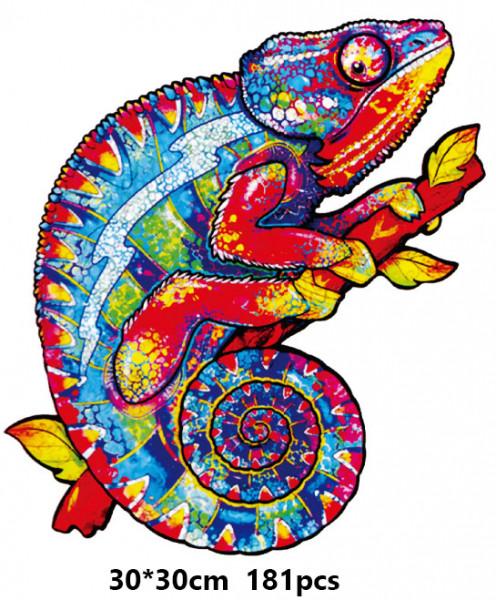 Holz Puzzle - Mosaik - Chamaleon