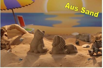 3D Sandformen 2er Set Pferd-Katze