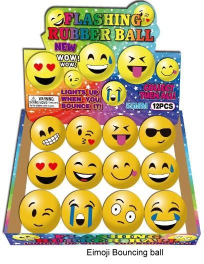 Emoji Springball mit Licht