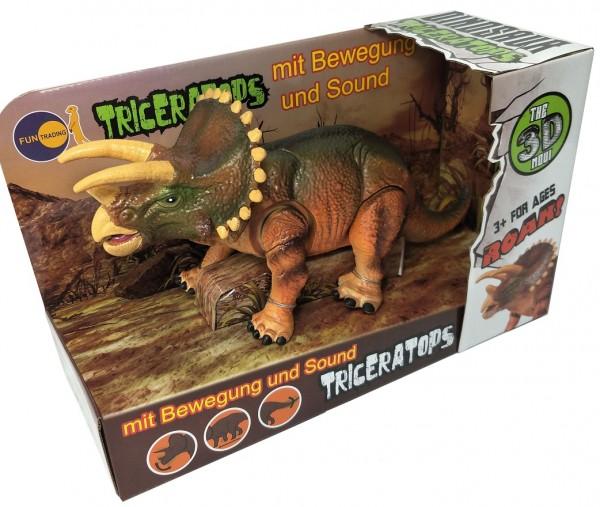 Dinofigur Triceratops mit Bewegung und Sound