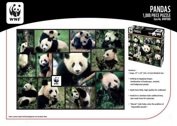 WWF 1000 Puzzle Pandas