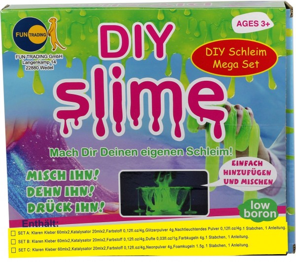 DIY Schleim zum Selbermachen im Mega Set