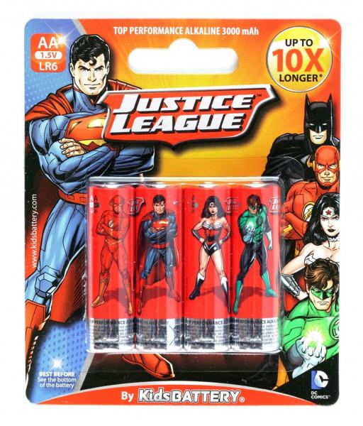 AA Batterien mit Justice League Lizenz