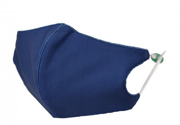 Textile Mund-Nasen Bedeckung - blau