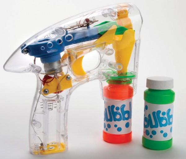 Seifenblasenpistole leuchtend mit Batterien