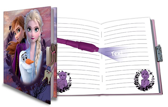 FROZEN II - Tagebuch mit Schloss inkl. magischem Stift