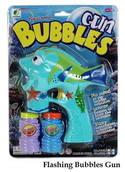 Seifenblasenpistole Fisch mit Licht