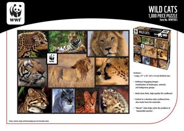 WWF 1000 Puzzle Wildkatzen