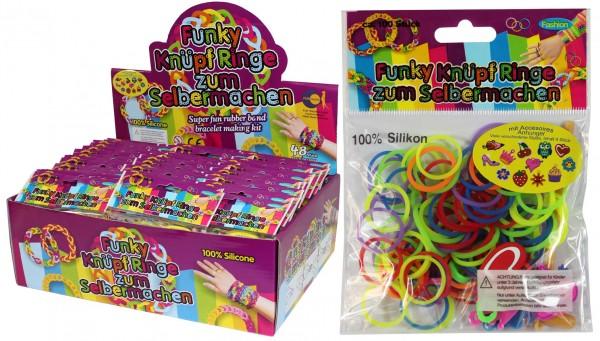 Funky Knüpf Ringe mit Anhänger