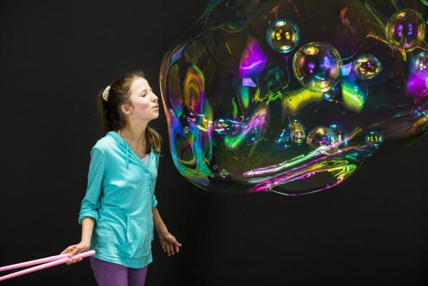 Jumboseifenblasen - Seifenblasenstab mit Seil