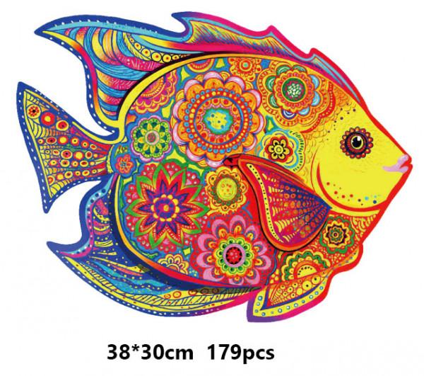 Holz Puzzle - Mosaik - Fisch