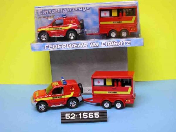 Feuerwehr mit Anhänger