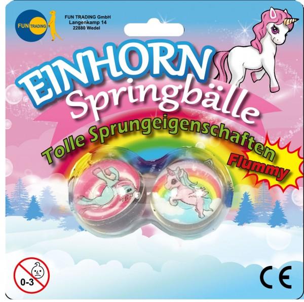 Einhorn Springbälle 2er Set
