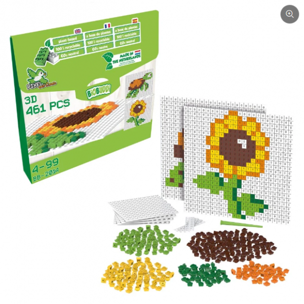 Pixel & Create Blumen und Schildköte - 450 Teile